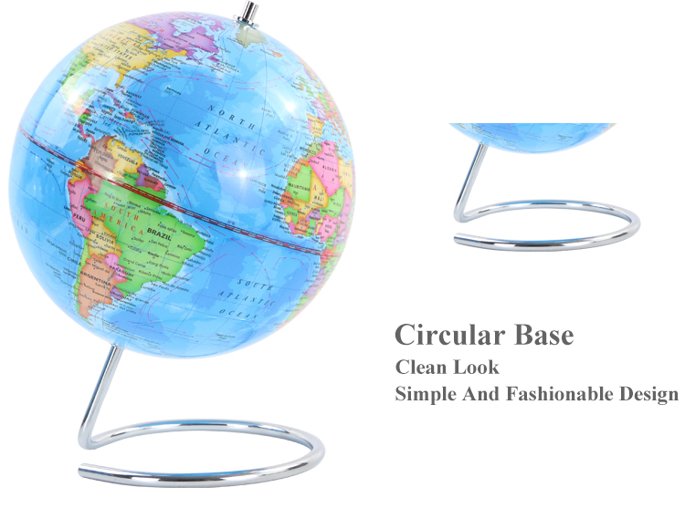 20cm Political District  Globe With Metal Base geographic globes toys child