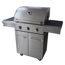 <span class=keywords><strong>Deluxe</strong></span> Heavy Duty Fumatore Outdoor <span class=keywords><strong>BARBECUE</strong></span> <span class=keywords><strong>Grill</strong></span> <span class=keywords><strong>A</strong></span> <span class=keywords><strong>Gas</strong></span> con 2 Porta In Acciaio Inox