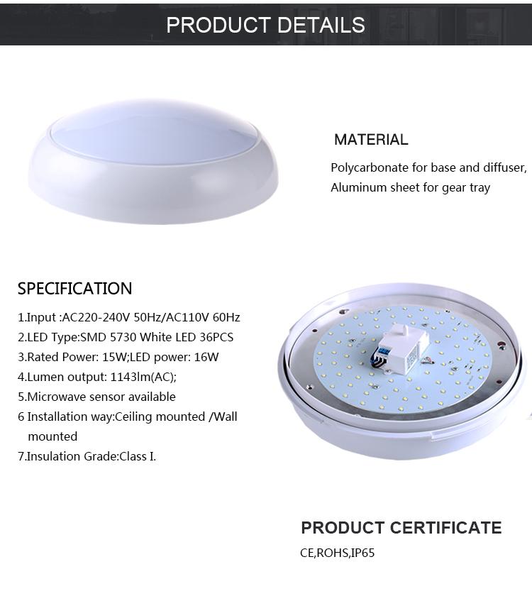 High Power 16W IP65 Runde LED Schott Leuchte über 1000 Lumen