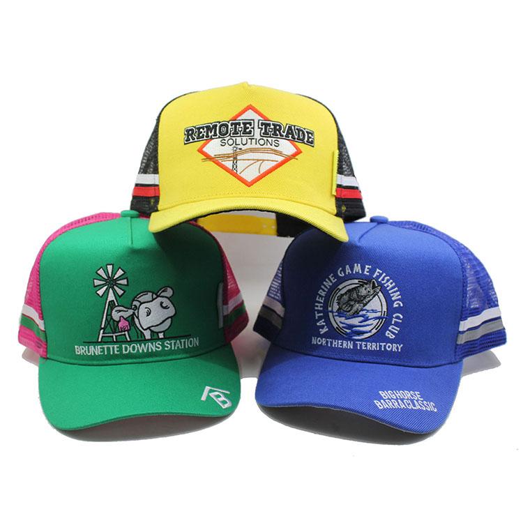 Пользовательские 3d вышивка логотипа высокий профиль сетки водителя грузовика шапки шляпы водителя грузовика