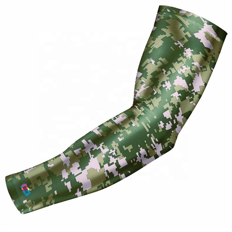 Custom Sublimation Printing Compression Sports UV Basketball Waterproof Elastic Cooling Cycling Arm Sleeve