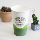 Custom printing disposable single wall paper coffee cups