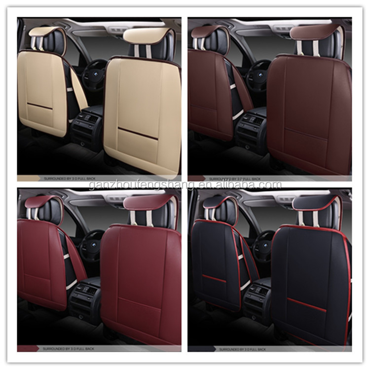 Full Set All Season Use Removable Airbag 5D Pu Leather Car Seat Cover Universal Car Seat Protector Covers