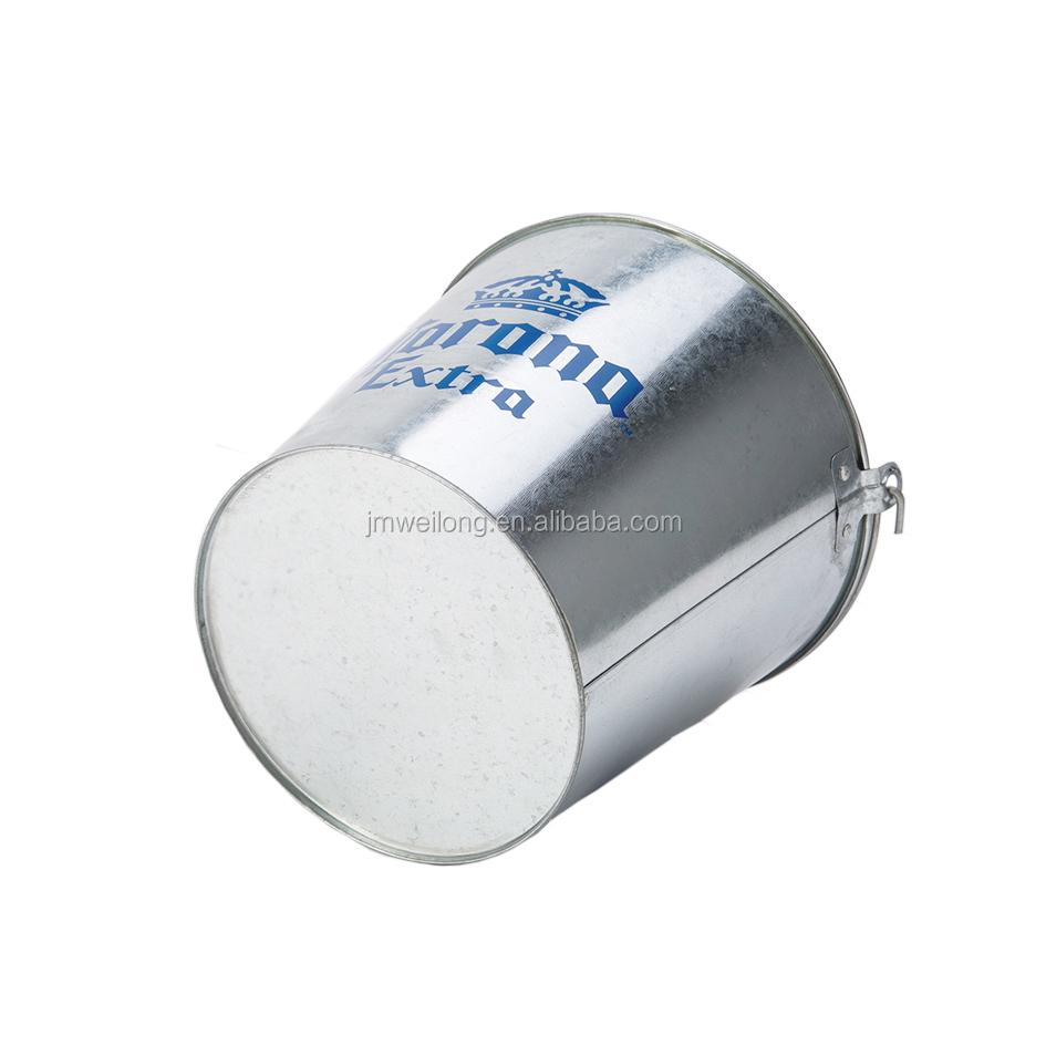 קורונה מגולוון מתכת קרח דלי בירה קורונה קרח דלי
