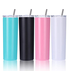 2020 trends BPA free double wall stainless steel skinny acrylic tumbler cups in bulk