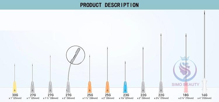 تعقيم هيئة قنية ثقب إبر 21g 50 مللي متر يمكن التخلص منها قنية الصغيرة