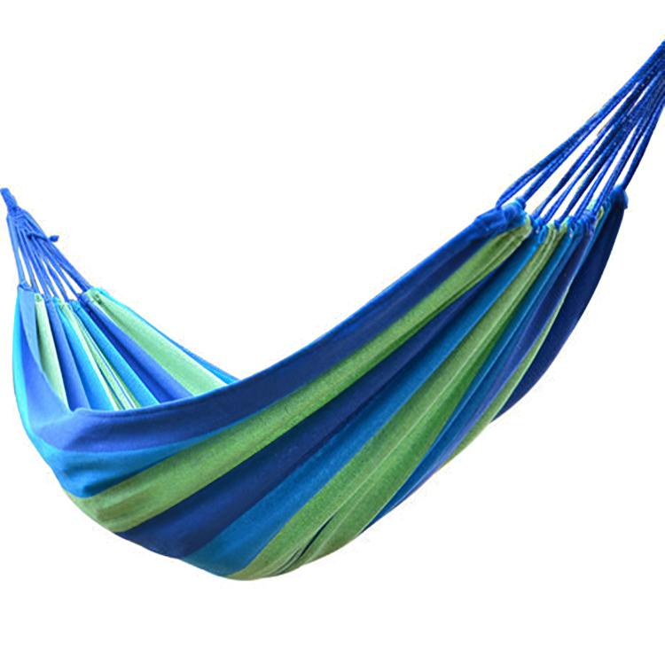 Hot Sell Outdoor Camping Portable Parachute Hammock Brazilian Beach Canvas Folding Hammock With Tree Straps