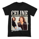 Celine Dion T-Shirt Casual Hipster Tee Women 3D Graphic Tumblr Clothes Tops T Shirts