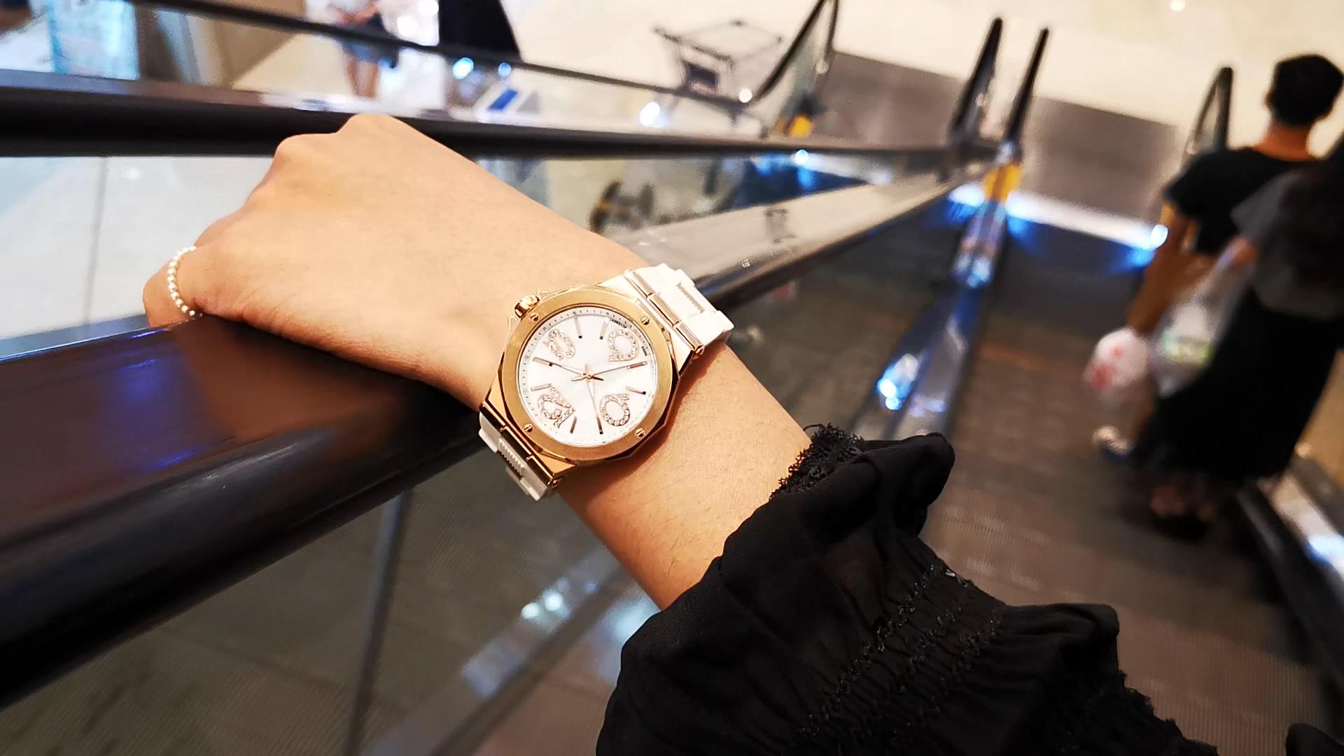 Dualtime shenzhen senhoras relógios marcas marcas de luxo do relógio em aço inoxidável mulheres relógio de quartzo