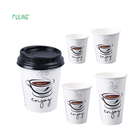 custom high quality print personalized disposable takeaway cappuccino espresso hot drink paper coffee cups with lids 16 oz