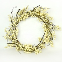 handmade decorated wreaths white berry holiday christmas hanger door hanging supplier wholesale decor christmas wreath