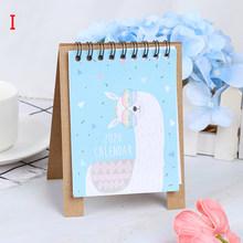 Ручной рисунок 2020 Fresh Cartoon Mini Flamingo, настольный бумажный календарь, двойной ежедневный планировщик стола, органайзер для годовой программы(Китай)