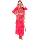 hot sale women India Professional performance top and skirt egyptian belly dance costume