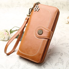 Hot sale branded 2019 woman carteras PU leather ladies purse wallets