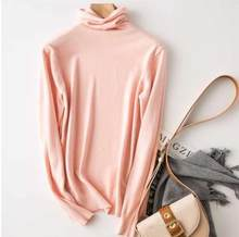 Кашемировый свитер с высоким воротом, женский шерстяной Теплый джемпер 2020, осенне-зимняя одежда, Женский Однотонный пуловер, свитер()