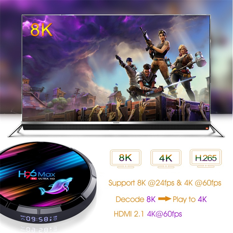 Hot selling Topleo H96 Max X3 Amlogic S905X3 4gb ram 32gb rom9.0 air android tv box