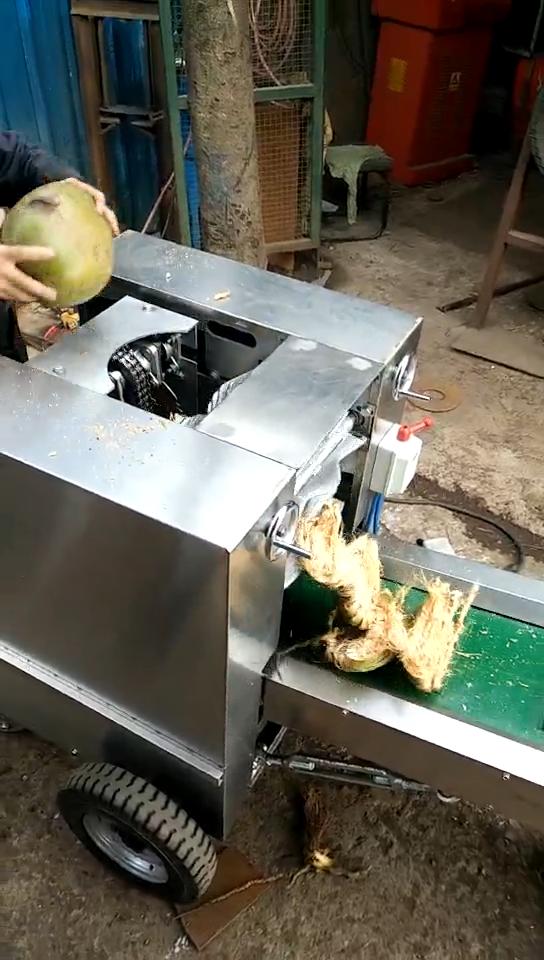 プロフェッショナルカスタムグリーンココナッツピーラーココナッツ dehusking 機