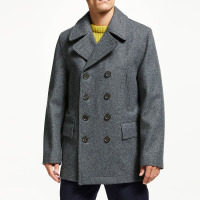 OEM High quality wholesale mens winter woolen coat with two hand warmer pockets
