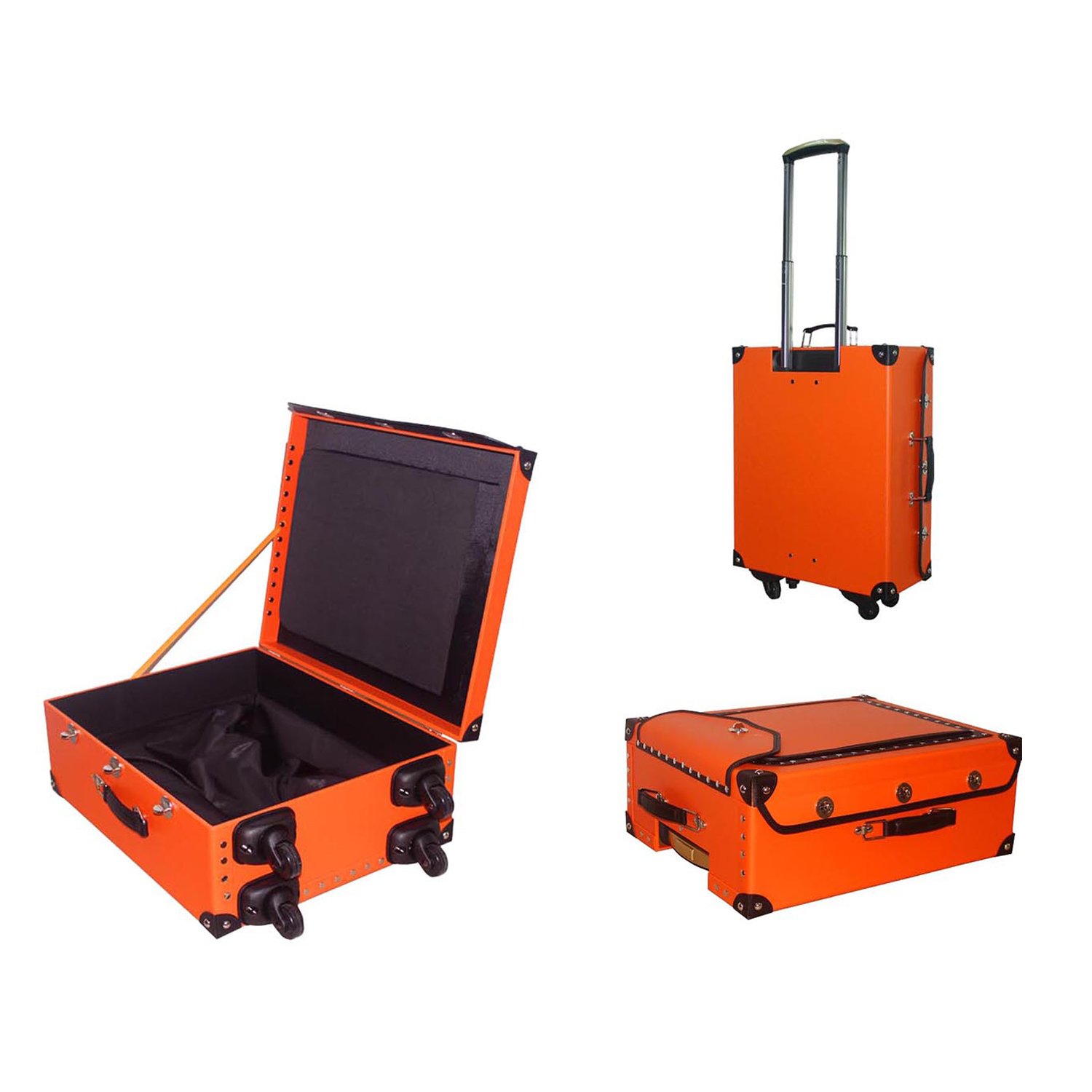 High quality luxury custom leather trolley luggage bag suitcase