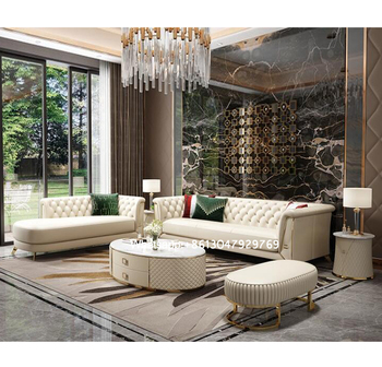 foshan latest design italian white leather sofas luxury furniture chaise lounge modern living room leather sofa set