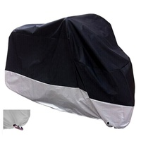 "Black Waterproof Sun Motorcycle Cover Fits up to 108"" Motors (XX Large & Lockholes)"