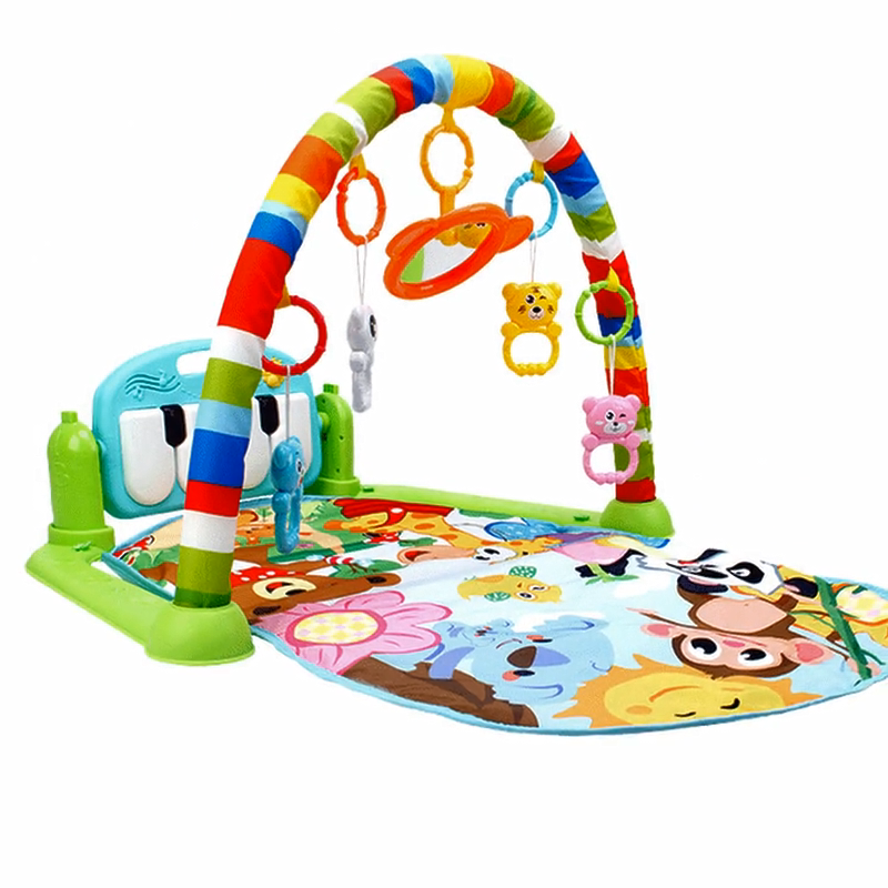 Baby Piano Pedaal Baby Vroege Onderwijs Muziek Game Mat Kindje Fitness Frame