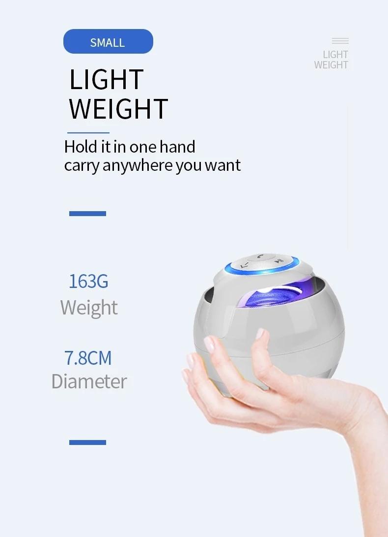Wireless Mini Bluetooth Promotion Gift Speaker Cassette Circle Round Ball Bluetooth Speaker