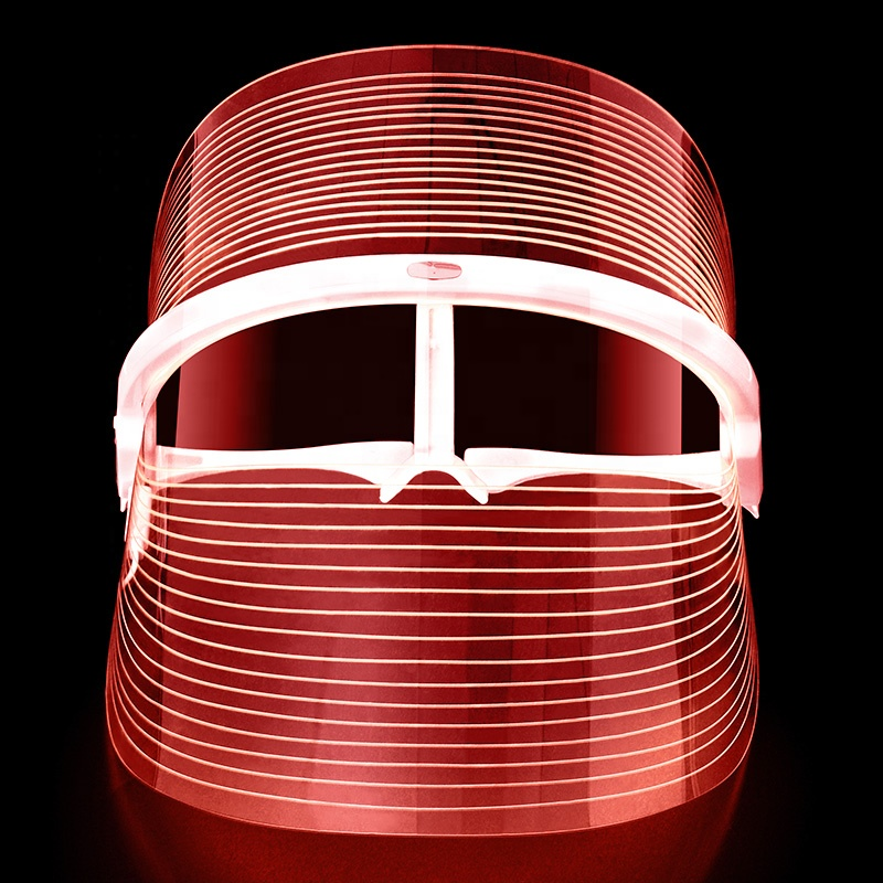 led face mask light red blue yellow led light