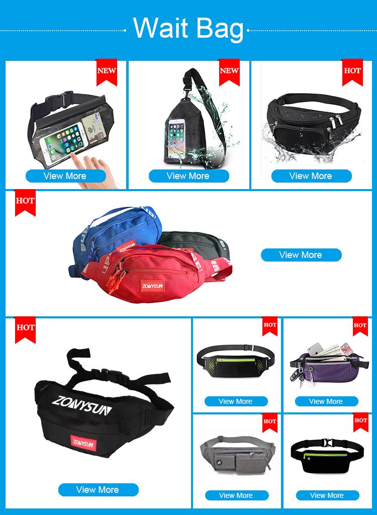 Factory Cutom Running Belt Hydration Waist Pack Travel Money Belt Waist Fanny Pack
