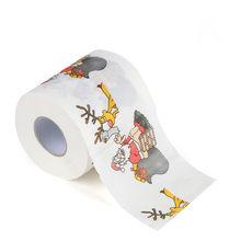 Рождественская бумага для ванной с принтом для дома, Санта Клаус, рулон туалетной бумаги, рождественские принадлежности, Рождественская де...(Китай)