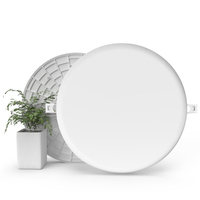 Global Free sample dimmable round 18w frameless led panel light,led light,led lighting