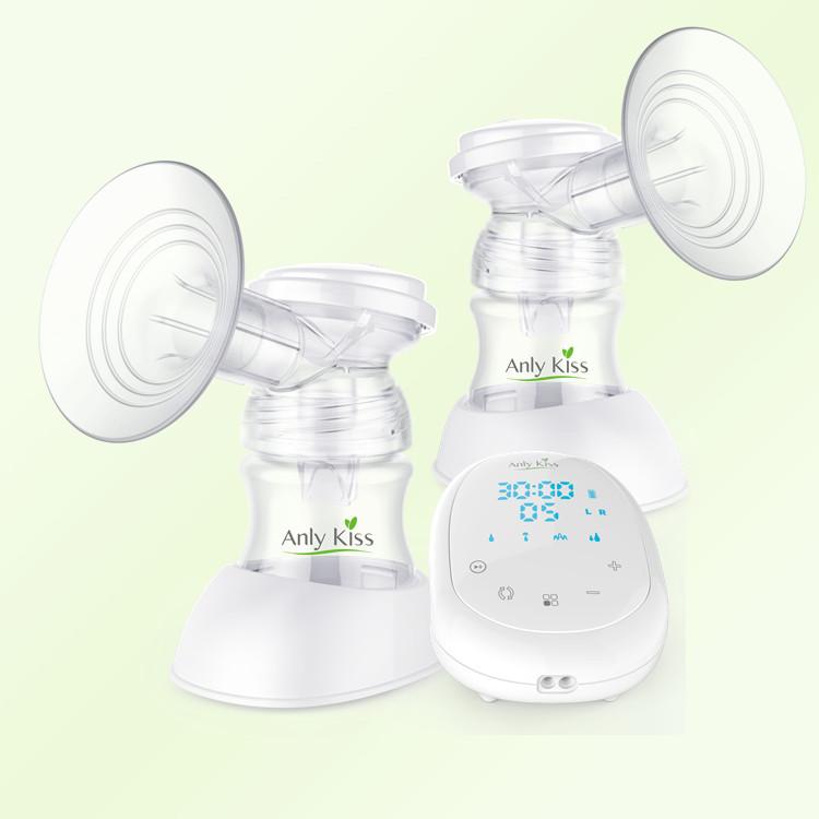 มัลติฟังก์ชั่OEMปั๊มนมไฟฟ้าคู่กับซิลิโคนP Ulloversผลิตภัณฑ์ดูแลทารก