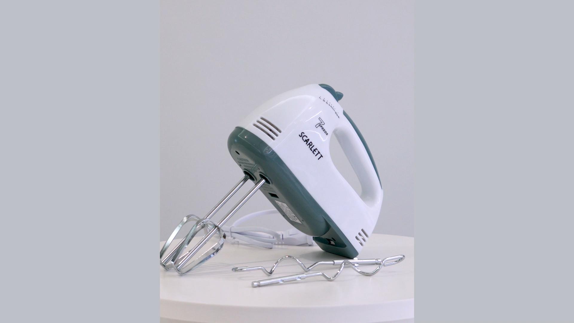 Portable 7 vitesses base électrique en plastique mélangeur tenu dans la main/batteur à oeufs machine à desserts