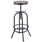 360 degree swivel vintage industrial black base design commercial bar stool