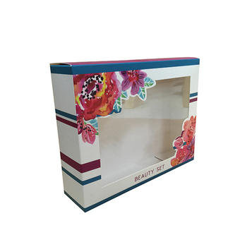 Custom clear PVC front window toys packaging paper box Christmas gift box