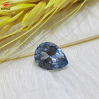 Aquamarine blue 106# lab created stones pear cut teardrop shape synthetic spinel