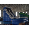 18' Blue Marble Inflatable Curve Single Lane Wet/dry water Slide For Sale