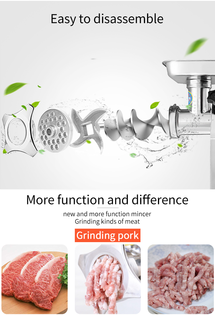 2019  type12 Stainless steel industrial commercial electric meat grinder machine for home