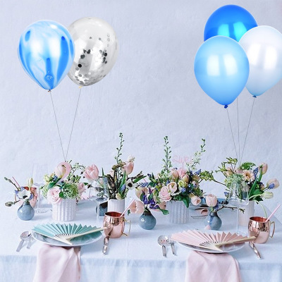 Wholesale latex party balloon with confetti multiple color for party decoration