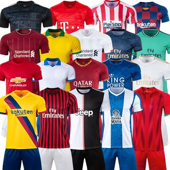 Wholesale Thai Quality Soccer Jersey Set Custom Soccer Uniform Sets Football Jersey