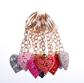 HOT SALE  metal hollow out heart  keychains