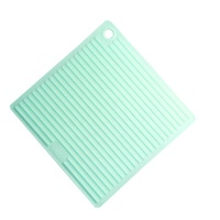 Silicone Dish Drying Square Mat Decorative Heat Insulation Pad Rubber Baking Table Waterproof Mat