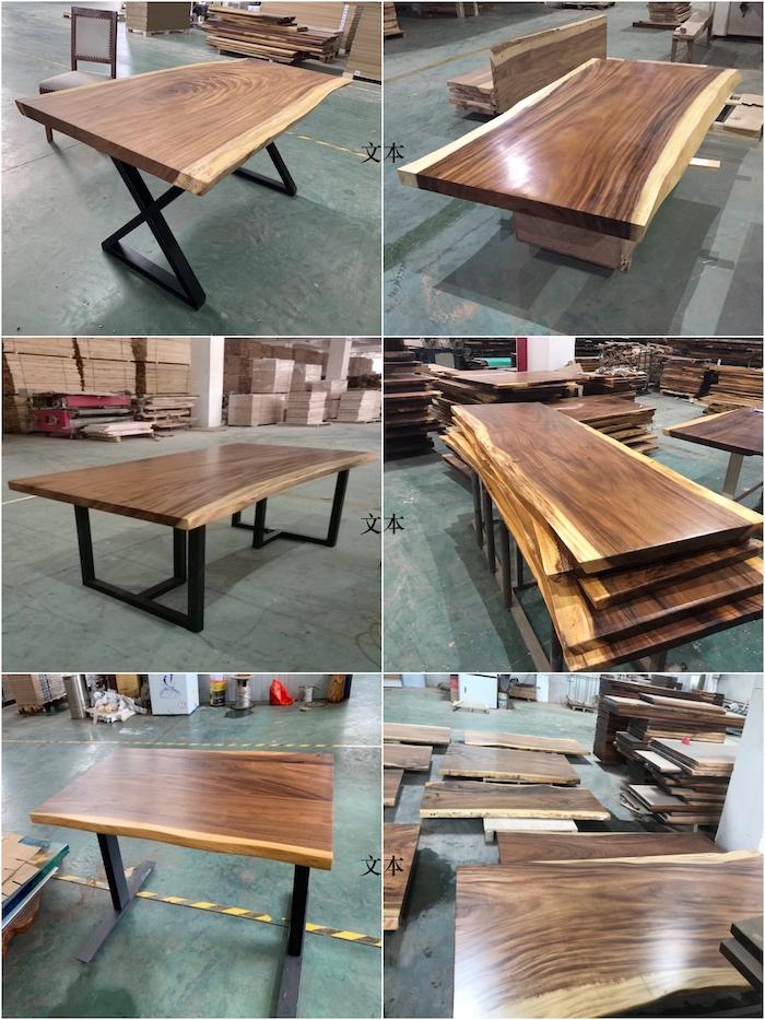 Live Rand Platte Tisch Nussbaum Platte tisch Suar slab Natürliche Rand Holz tisch