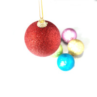 High Quality Christmas Tree Decoration Colorful 6Cm Round Christmas Ornament Balls Plastic