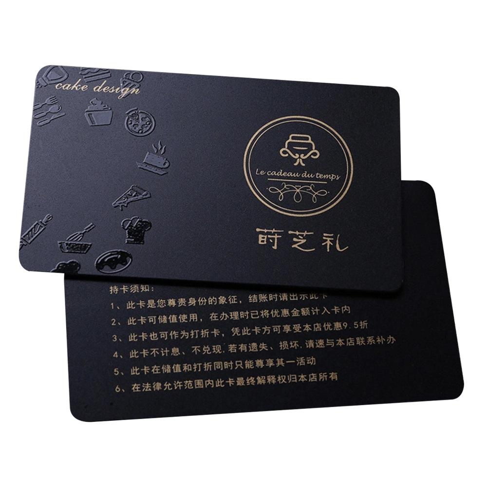 PVC 방수 직불 카드 명함