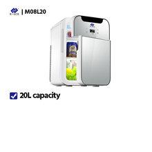 Мини-холодильник с низким уровнем шума, емкость 12 В, портативный холодильник для кемпинга, для дома, для улицы, подогреватель(Китай)