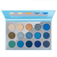 Private Label 15 Colors Eye Shadow Pigmented Makeup Palette Wholesale Waterproof Custom Shimmer Eyeshadow