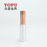 bimetal cable crimp electrical terminal lugs/ Copper and Aluminium Connector Tube GTL
