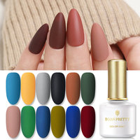 BORN PRETTY Gel Nail Polish Matte Series Soak Off UV LED Gel Pure Nail Color Gel Varnish Need Matte Top Coat