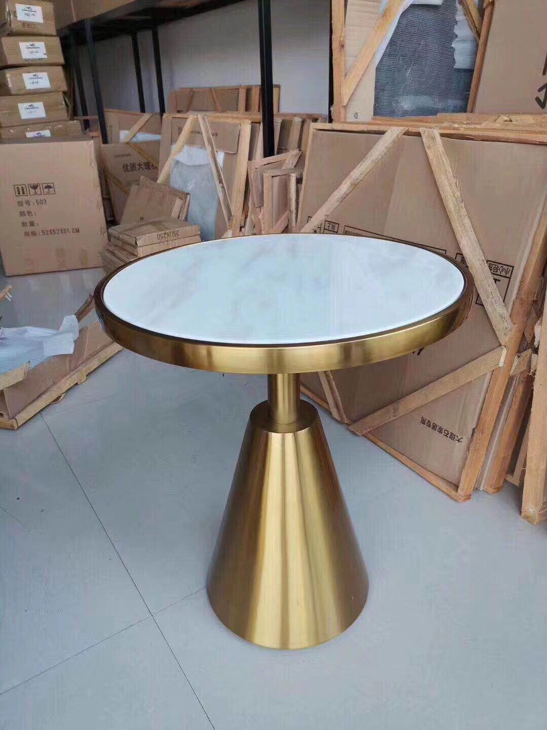 Top grade customized Commercial used buffet restaurant furniture quartz stone long table (FOH-SSBC5)